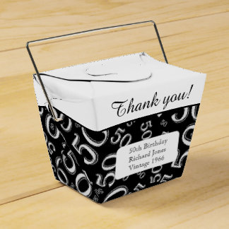 Personalise: 50th Birthday Party Black/White Favour Box