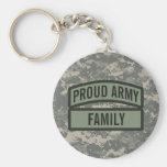 Personalise Army Family Camo Basic Round Button Key Ring