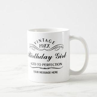 Personalise Funny Birthday Basic White Mug