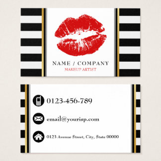 Personalise Makeup Artist Business Card