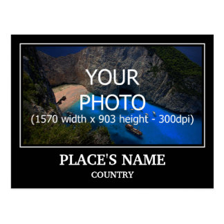 Personalise Photo, Place's Name & Place's Country Postcard