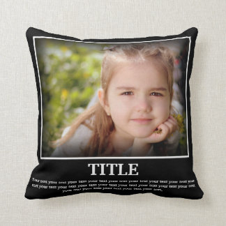 Personalise Photo & Text (Poster Style) Cushion