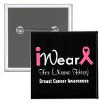 Personalise Pink Ribbon Breast Cancer Pin