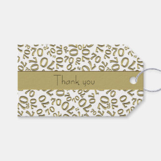 "Personalise:  ""Thank you"" 70th Birthday Gift Tag"