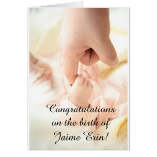 "Personalise this ""Congrats on New Baby"" card! Card"