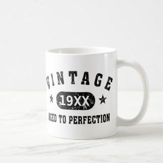 Personalise Vintage Aged to Perfection Basic White Mug