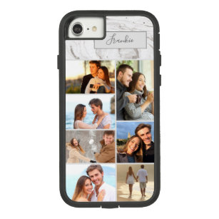 Personalised 7 Photo Collage on Grey Marble Case-Mate Tough Extreme iPhone 8/7 Case