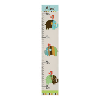 Personalised African Elephants Growth Chart