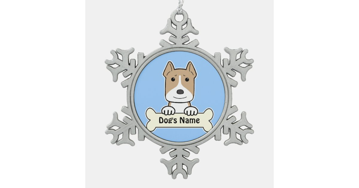 Personalised Amstaff Pewter Snowflake Decoration Zazzle