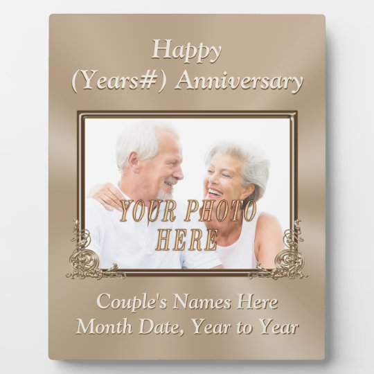 Personalised Wedding Anniversary Gifts Nz : Personalised and Photo Wedding Anniversary Plaques Zazzle