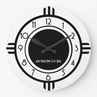 Personalised Art Deco Style Wall Clock