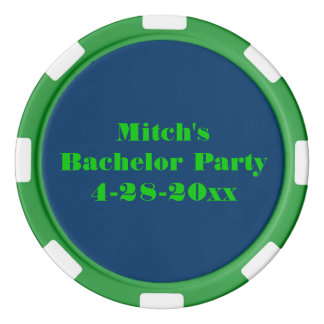 Personalised Bachelor Party Poker Chips Set