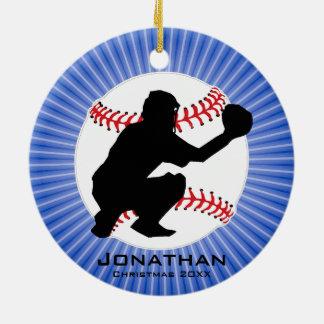 Personalised Baseball (Catcher) Ornament