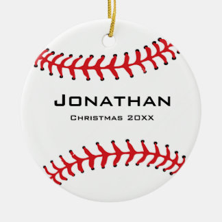 Personalised Baseball Softball Ornament