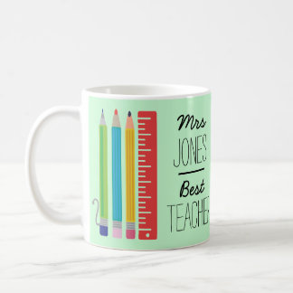 Personalised Best Teacher Pencil Mug