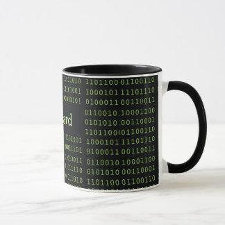 Personalised Binary Code Mug