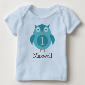 Personalised Birthday T-Shirt | Blue Owl