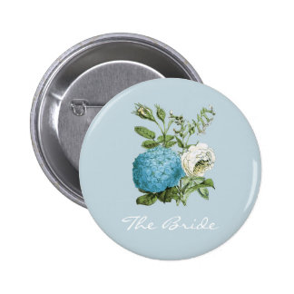Personalised Blue Floral Hen Party Badges
