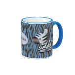 Personalised Blue Zebras & Animal Print Mug
