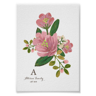 Personalised | Blush Bouquet Art Print 5x7