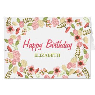 Personalised Botanical Birthday Card