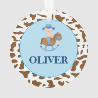 Personalised Boy Christmas Ornament Cowboy