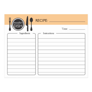 Personalised Bridal Shower Recipe Card Postcard