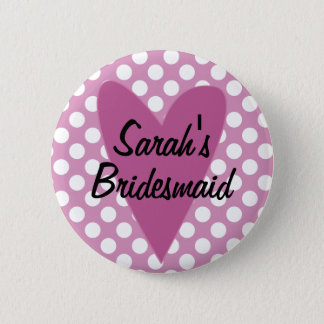 Personalised Bridesmaid Badge / Button