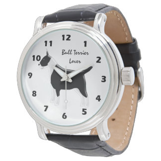 Personalised Bull Terrier Dog Design Watch