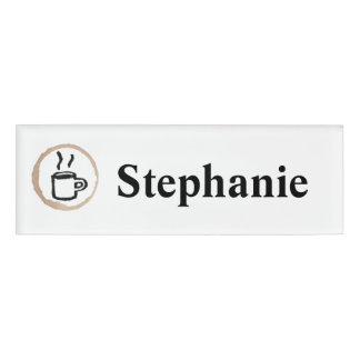 Personalised Cafe Barista Coffee Name Tag