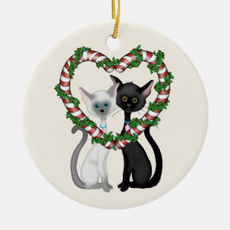 Personalised Cat Couple First Christmas Holiday Christmas Ornament