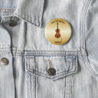 Personalised Cello Design 6 Cm Round Badge