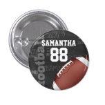 Personalised Chalkboard American Football 3 Cm Round Badge