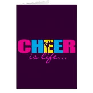 Personalised Cheer Cheerleading Purple Card
