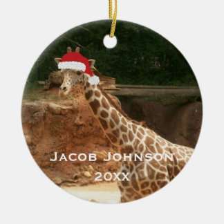 Personalised Christmas Giraffe Ornament