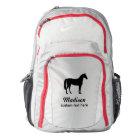 Personalised Equestrian Horse & Riders Custom Name Backpack