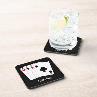 Personalised Four Aces Design Coaster
