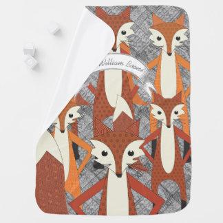 Personalised Fox Wild Days Baby Blanket