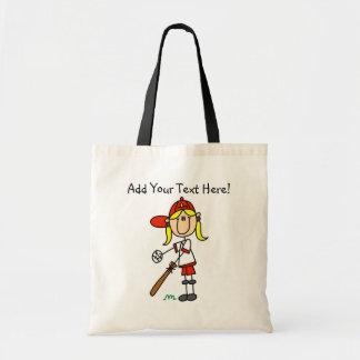 Personalised Girls Baseball Tote Bag