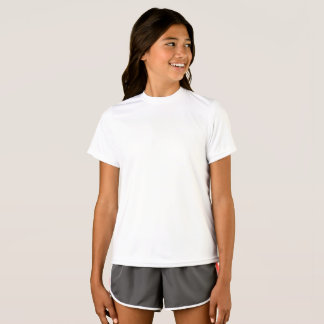 Personalised Girls Champion Double Dry Mesh T-S T-Shirt