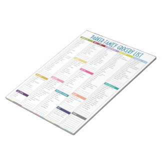 Personalised Grocery List Notepad