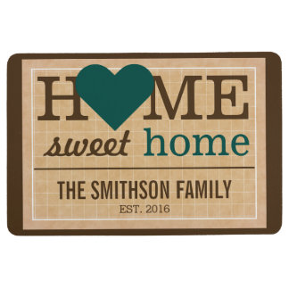 Personalised Home Sweet Home Family Welcome Sign Floor Mat