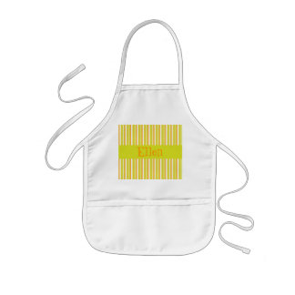 Personalised initial E girls name stripes apron