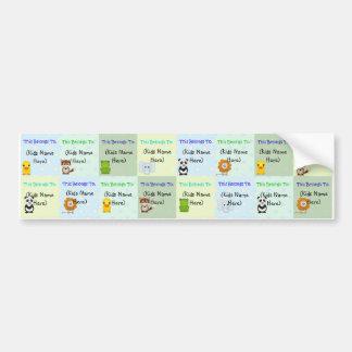 Personalised Kids Labels, Waterproof Baby Stickers Bumper Sticker