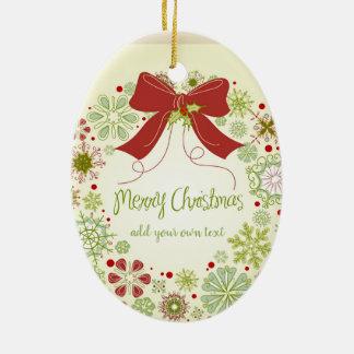 Personalised Las Vegas Christmas Ribbon Christmas Ornament