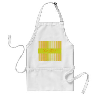 Personalised letter X girls name stripes apron