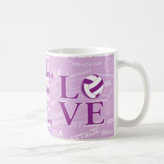 Personalised Love netball Coffe mug