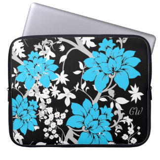 Personalised Modern floral Laptop Computer Sleeves