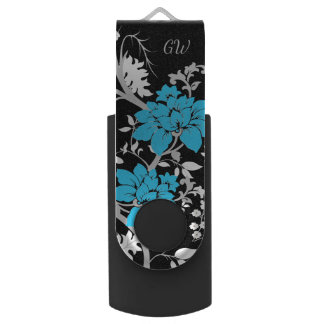 Personalised Modern floral USB Flash Drive
