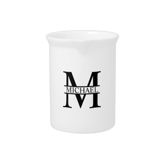 Personalised Monogram and Name Pitcher